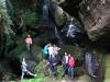 Elbsandsteingebirge Klettern und Abenteuer mit Kindern Wasserfall