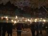 Fackelwanderung zur Weihnachtsfeier Teufelsberg Berlin