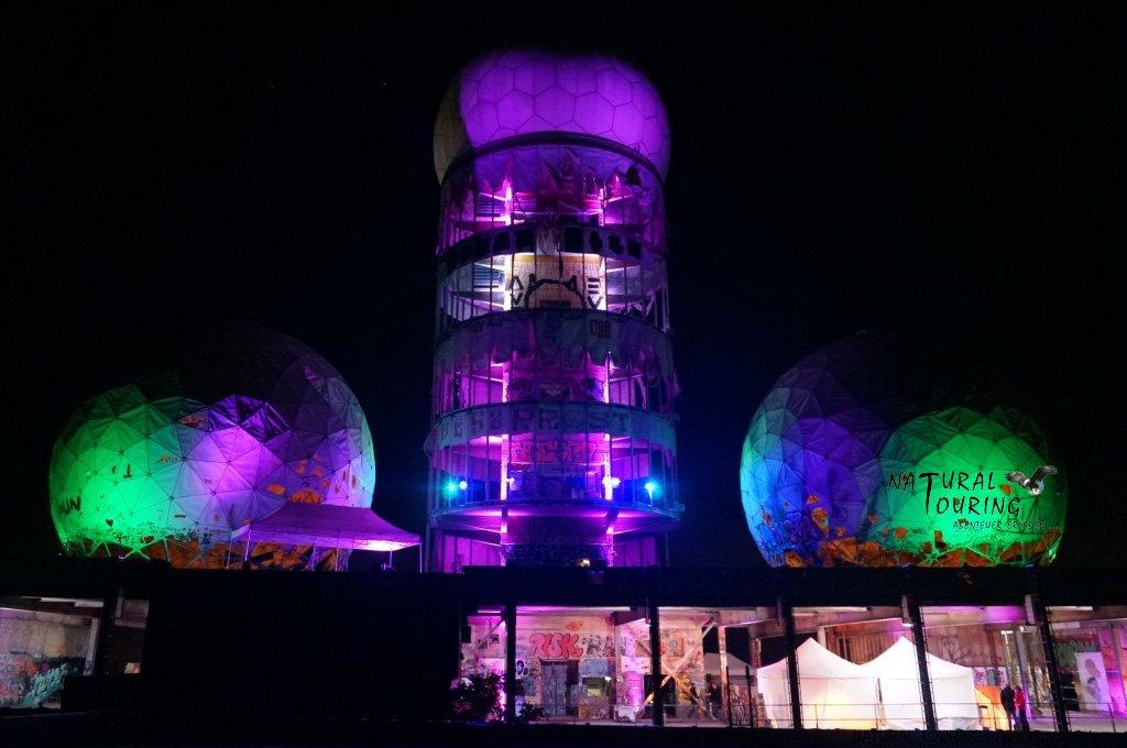 Teufelsberg Event bei Nacht