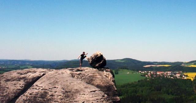 Abenteuer Ebsandsteingebirge Sächsische Schweiz Klettern