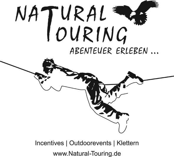 Logo Natural Touring mit Seilklettern