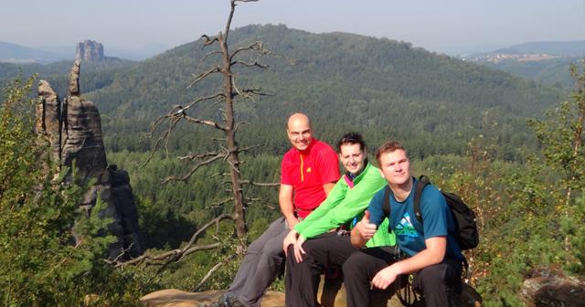 Abenteuer Elbsandsteingebirge Klettern Abseilen Kletterstieg Seilbrücke
