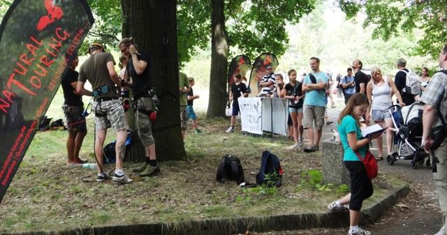 Geocaching Teamevent Baumklettern Spreepark Berlin